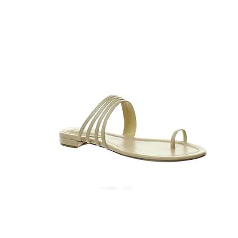 Alexandre Birman Womens Strappy Flats Beige Sandals EUR 35.5