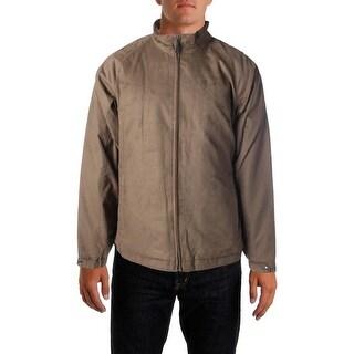 Croft & Barrow Mens Big & Tall Basic Jacket Faux Suede Zipper Front - 2xt