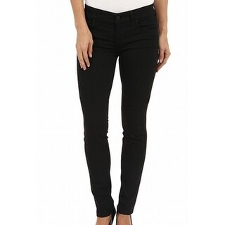 Level 99 NEW Black Womens Size 25X26 Straight Skinny Lily Jegging Jeans