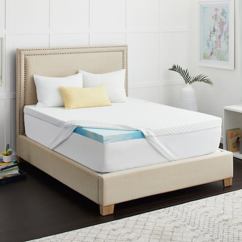 "2"" SealyChill Gel Memory Foam Mattress Topper with Cover"