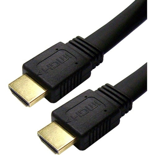 """4XEM 4XHDMIFLAT10FT 4XEM 10FT Flat HDMI M/M Cable - HDMI for Audio/Video Device, TV, Tablet PC, Satellite Receiver - 10 ft - 1"