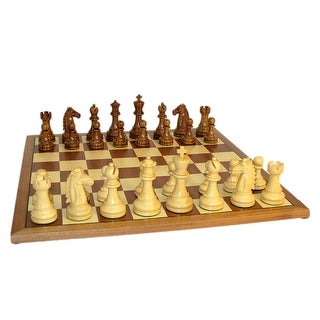 Sheesham Mustang Chess Set With Sapele Board - Multicolored