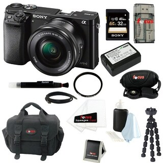 Sony Alpha a6000 ILCE-6000L/B ILCE6000LB 24.3 Interchangeable Lens Camera /w Kit