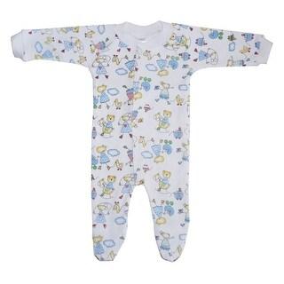 Bambini Baby Unisex Multi Color Interlock Closed-Toe Long Johns