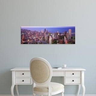 Easy Art Prints Panoramic Images's 'Chicago, Illinois, USA' Premium Canvas Art