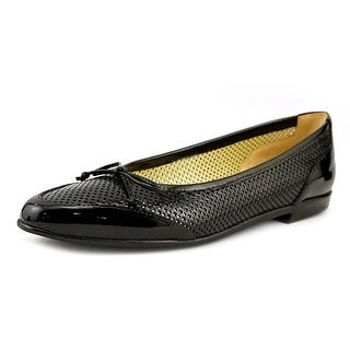 Amalfi By Rangoni Oslo Women SS Round Toe Patent Leather Black Flats