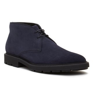 Tod's Men's Suede Chukka Desert Boots Shoes Navy Blue (3 options available)