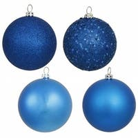 Vickerman N590702 2.75 in. Blue 4 Finish Ornament Asst 20-Box