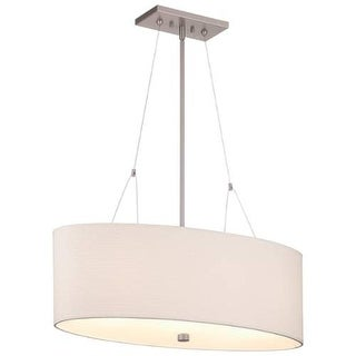 "Forecast Lighting F44736 3 Light 30"" Wide Pendant from the Alexis Collection - Satin Nickel"