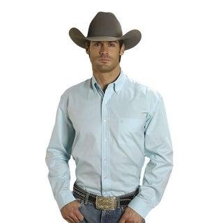 Stetson Western Shirt Mens L/S Solid Button Aqua 11-001-0566-0020 BU