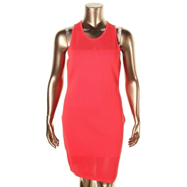 0a2b578abf0 Shop MICHAEL Michael Kors Womens Bodycon Dress Perforated Sleeveless - xL -  Free Shipping Today - Overstock - 19530797