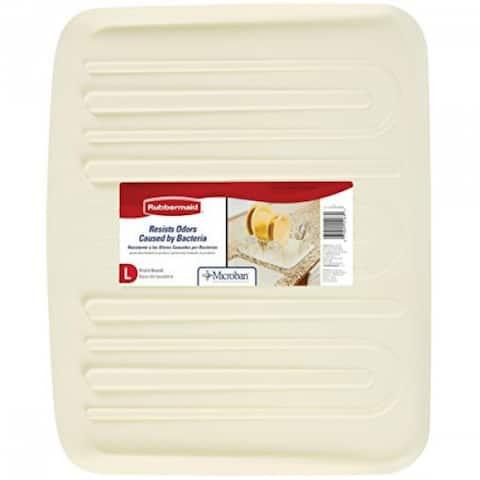 Rubbermaid 1182-MA-BISQU Microban Antimicrobial Drain Board, Large, Bisque