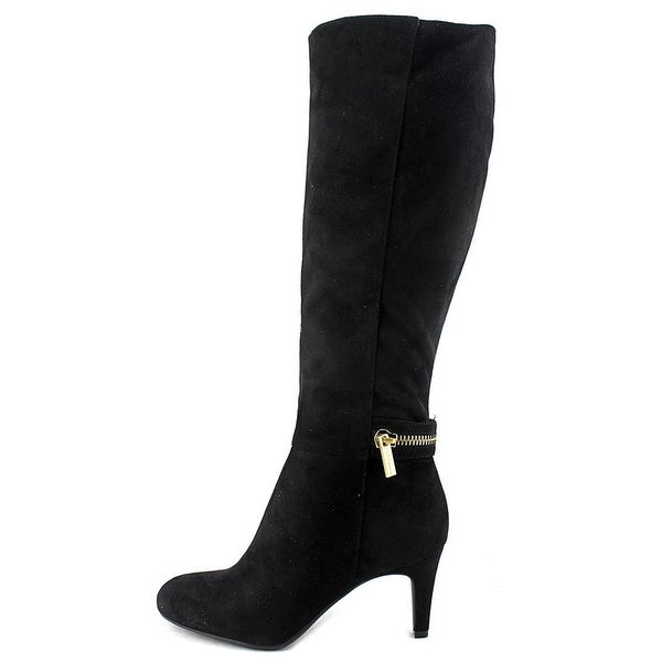 BCBGeneration Womens Rigbie Almond Toe Knee High Fashion Boots, Black, Size 7.0