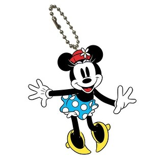 Disney Mickey Mouse Bendable Keychain Minnie Retro - Multi