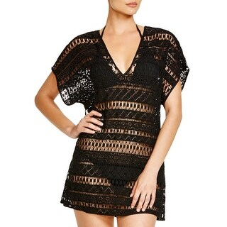 Milly Womens Crochet Short Sleeves Dress Swim Cover-Up - M