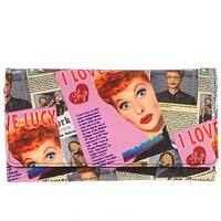 I Love Lucy Collage Checkbook/ Long Wallet-Black