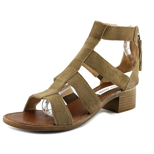 Steve Madden Womens daviss Suede Open Toe Casual Slingback Sandals