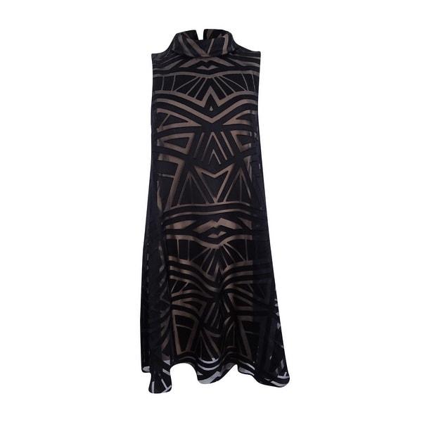 d7ae67ed3f500 Shop Vince Camuto Women s Mock-Neck Burnout Trapeze Dress (2