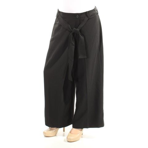 ANNE KLEIN Womens Black Belted Wear To Work Pants Size: 2