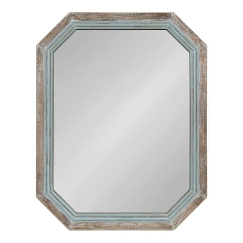 Kate and Laurel Palmer Wood Octagon Wall Mirror - 28x36