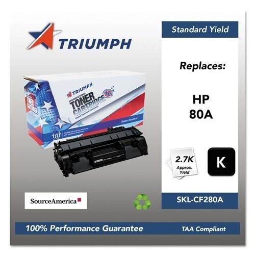Triumph Remanufactured 80A Toner Cartridge - Black Toner Cartridge