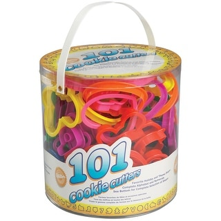 Plastic Cookie Cutters 101/Pkg-Assorted Shapes, Numbers & Letters