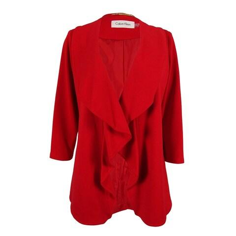 Calvin Klein Women's 3/4 Sleeve Open Front Jacket