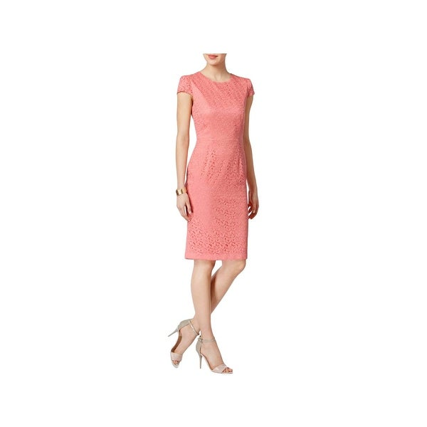 2a84446e16c8f Betsey Johnson Womens Special Occasion Dress Lace Cap Sleeve