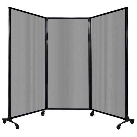 """QuickWall Folding Portable Partition - 8'4"""" x 5'10"""" - Polycarbonate - 5'1"""" H x 8'4"""" W"""