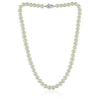 """Honora 18"""" Freshwater Pearl Strand Necklace Sterling Silver - Natural"""