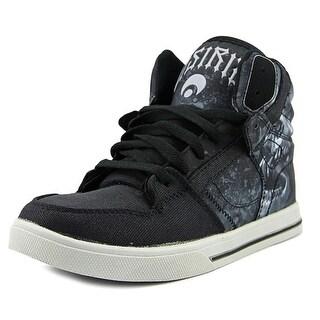 Osiris Clone  Youth  Round Toe Canvas Black Skate Shoe