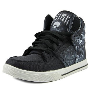 Osiris Clone Youth Round Toe Canvas Black Skate Shoe