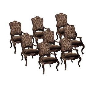 Palladio Arm Dining Chair, Fabric back Set of 8 - Neutral