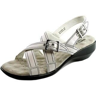 Walking Cradles Lythe Women N/S Open-Toe Leather White Slingback Sandal