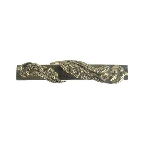 Roberto Cavalli Gold Tone Metal Rectangular Floral Key Ring