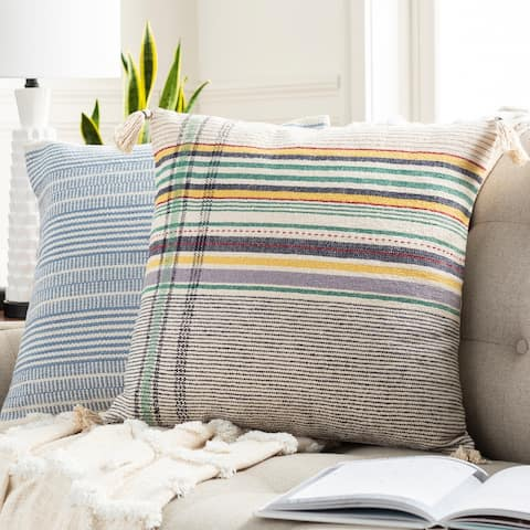 The Curated Nomad Park Handmade Hygge Plaid 20-inch Throw Pillow Cover