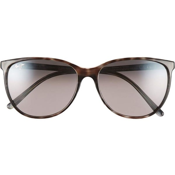 c51c92f1f3e Shop Maui Jim Style 723 Ocean Polarized Cat Eye Sport Sunglasses - gray  tortoise stripe neutral gray - One size - Free Shipping Today - Overstock -  19967913