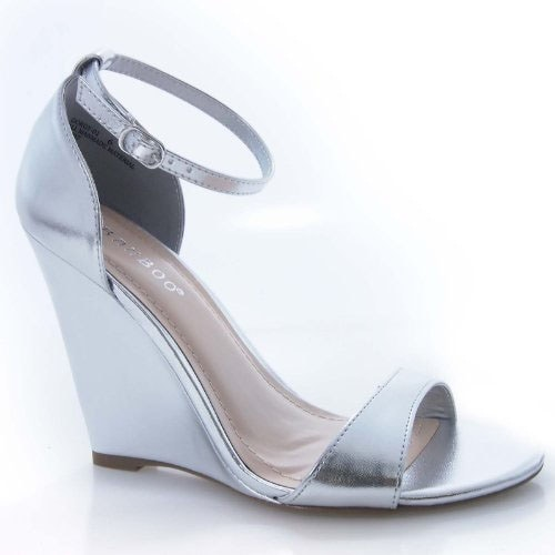 Bamboo Womens Gorgy-01X Sandals - Silver