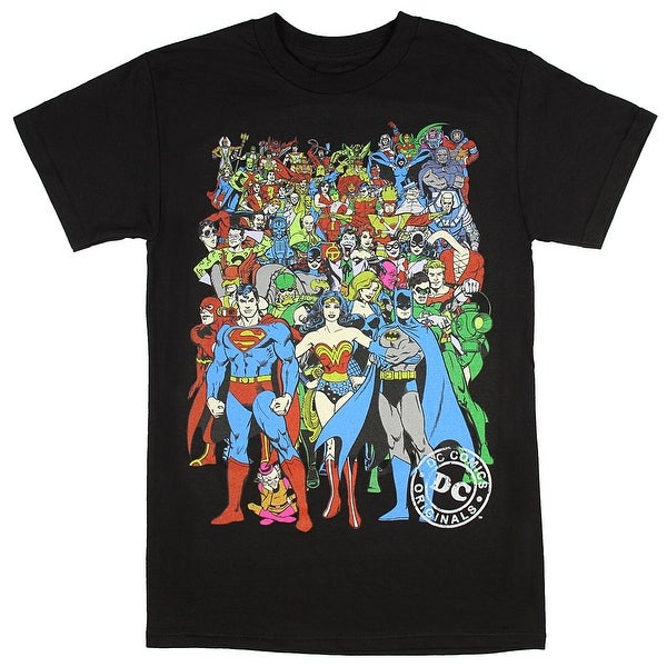 4edd8925c Shop DC Comics Men's Dc Characters Original Universe T-Shirt - Free  Shipping On Orders Over $45 - Overstock - 19420325
