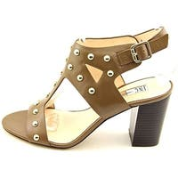 INC International Concepts Womens Kieraa 2 Leather Open Toe Casual Ankle Stra...
