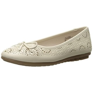 Cliffs by White Mountain Womens Betty Faux Leather Metallic Ballet Flats - 8 medium (b,m)