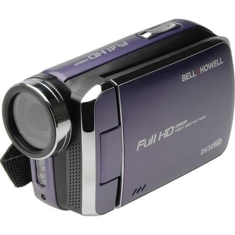Bell+howell dv30hd-p 20.0-megapixel 1080p dv30hd fun flix slim camcorder (purple)