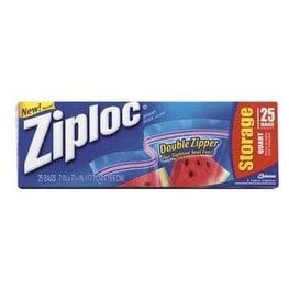 Ziploc 00330 Food Storage Bags, 1 Quart
