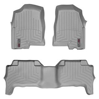 WeatherTech Chevrolet Colorado/GMC Canyon 2004-2012 CrewCab Grey Front & Rear Floor Mats FloorLiner 465021 460092