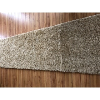 "Superior Elegant, Plush, Cozy and Hand Woven Shag Runner Rug (2'7""x8')"
