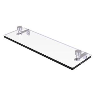Allied Brass Foxtrot Glass Vanity Shelf with Beveled Edges