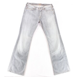 7 For All Mankind NEW Wash Gray Women's Size 32 Flare Leg Jeans