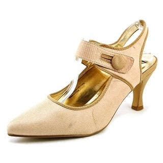 Bellini Zola Women Pointed Toe Canvas Tan Mary Janes