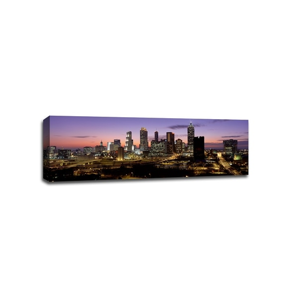 Atlanta - Cityscapes - 48x16 Gallery Wrapped Canvas Wall Art