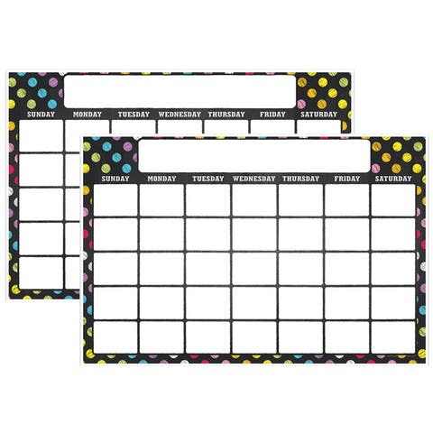 "Magnetic Write & Wipe Calendar Neon Chalk, 12"" x 18"", Pack of 2 - One Size"